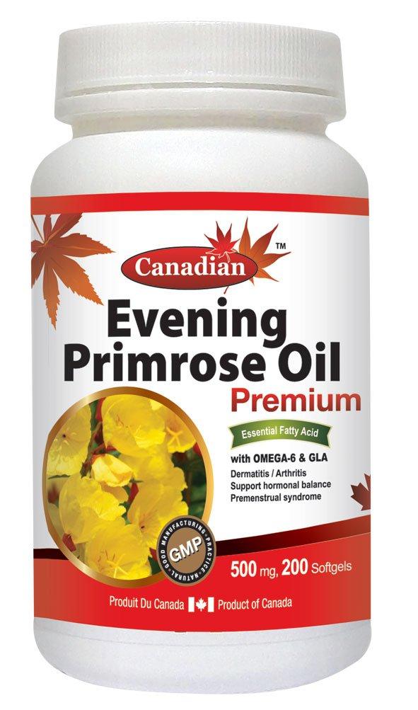 Canadian Natural Evening Primrose Oil Omega-6 & GLA 550mg 200Softgels