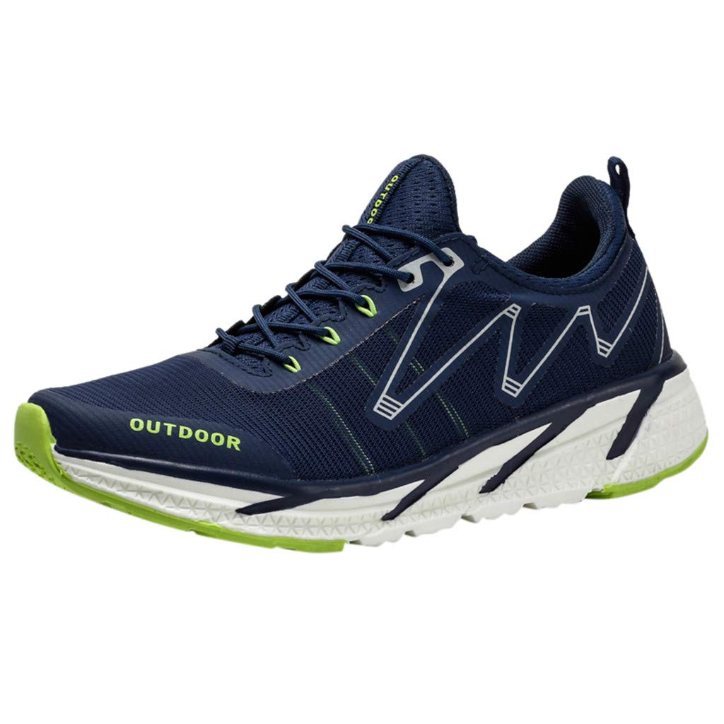 Fashion Casual Outdoor Sneakers Running Shoes,Men's Flying Weaving le Running Shoes Tourist Shoes Leisure Sports Shoes Blue