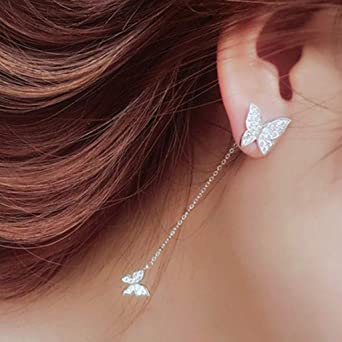 Handmade Jewelry Retro Stlye Rose Topaz Gemstone Silver Dangle Crochet Boucles D/'oreilles