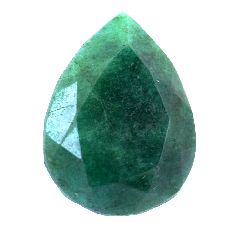skyjewels 20 Carat Certified Pear Cut Panna Emerald Natural Gemstone