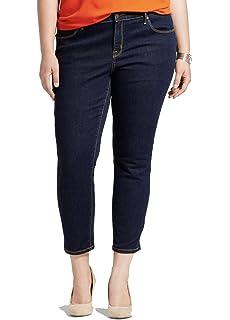 8d30b79434a9a Ava & Viv Women's Plus Size Skinny Power Stretch Jean - Dark Denim ...
