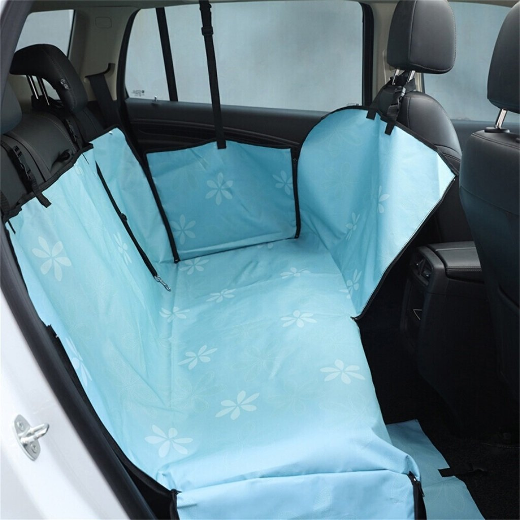 blueE YUMO Dog Car Seat Covers Pet Mat Car Dog Mat Car Outing Car Pet Mat Waterproof Pet Mat,Environmental Predection Oxford Cloth,For Cars Trucks And SUV General Purpose (color   blueE)