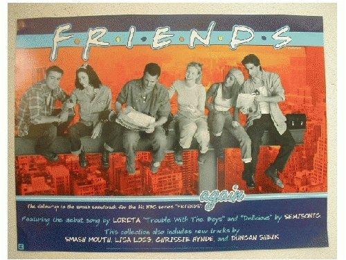 Friends Poster Jennifer Aniston Lisa Kudrow On Steel