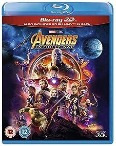Avengers Infinity War 3D and 2D Bluray