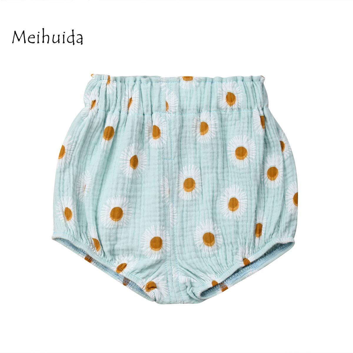 Arilove Newborn Infant Baby Girls Boys Cotton Linen Blend Pants Shorts Bottoms Bloomer Shorts