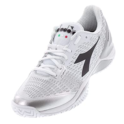 80f08a670e Amazon.com | Diadora-Women`s Speed Blushield 3 AG Tennis Shoes White ...