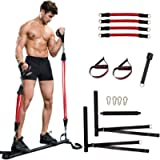 ZOVOTA Pilates Bar Set with Resistance Bands Portable Home Training Exercise Equipment Gym Full Body Workout for Men…