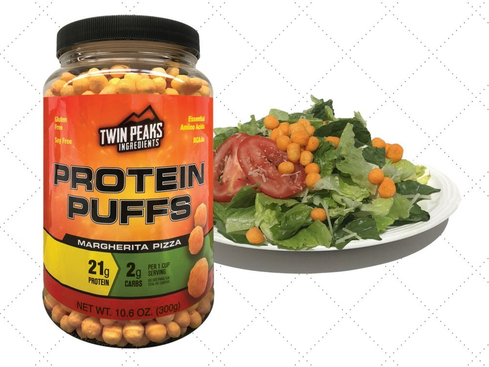 Twin Peaks Ingredients Protein Puffs - Margherita Pizza 300g (10 Servings), 21g Protein, 2g Carbs, 120 Cals, High Protein, Low Carb, Soy Free, Gluten Free, Potato Free - Best Protein Snack by Twin Peaks Ingredients (TPI) (Image #5)