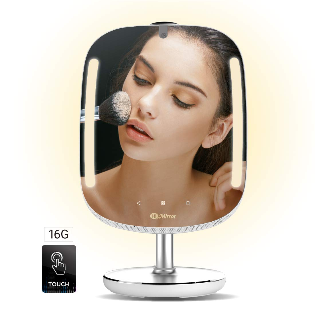 HiMirror Mini 16G: Smart Beauty Mirror with Skin Analyzer, Makeup Mirror with LED Lights, Smart Vanity Mirror with 2X 3X Magnification, Lighted Cosmetic Mirror with Virtual Makeover by HiMirror