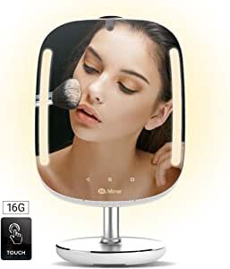 HiMirror Mini 16G: Smart Beauty Mirror with Skin Analyzer, Makeup Mirror with LED Lights, Smart Vanity Mirror with 2X 3X Magnification, Lighted Cosmetic Mirror with Virtual Makeover