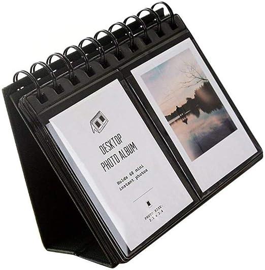 "En /_ 68 Bolsillos Cajas De Mesa De 3/"" Álbum de Fotos para Polaroid Fujifilm Instax Mini St"