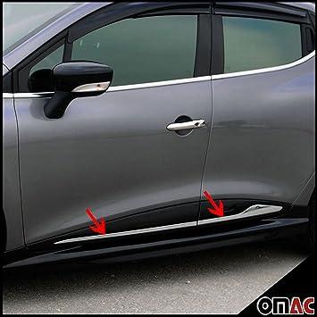 Renault Clio IV 4 Grand Tour IV 2012 > cromo laterales listones para puerta acero inoxidable