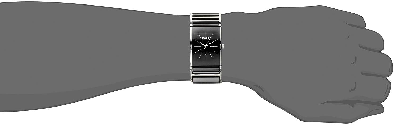 Rado Men s R20784159 Integral Black Dial Platinum Ceramic Watch