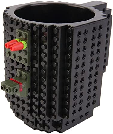 Construire sur Puzzle Mug Lego Brique Bloc À faire soi-même Créatif Boire Café Thé Tasse bleue