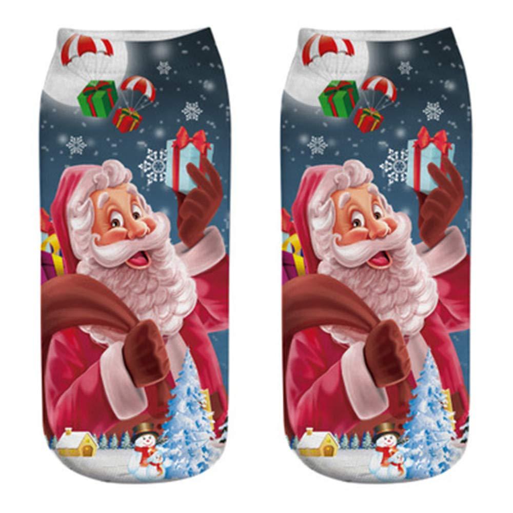 A.M.Feker Comfortable Christmas Cotton Sock Slippers Short Print Ankle Socks