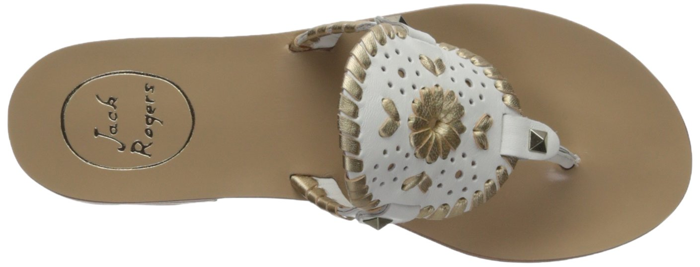 Jack Rogers Women's Georgica Flat Sandal, White/Gold, 9 Medium US by Jack Rogers (Image #8)