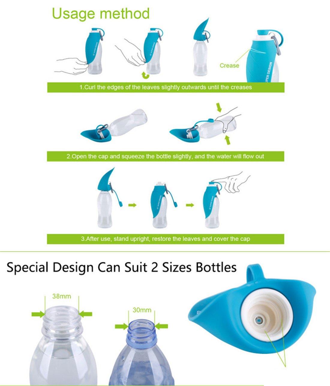 Botella De Agua Portátil Para Mascotas - Dispensador De Agua Reversible Taza De Bebida Bowl Para Perros Y Gatos Caminata Al Aire Libre Running Viajando ...