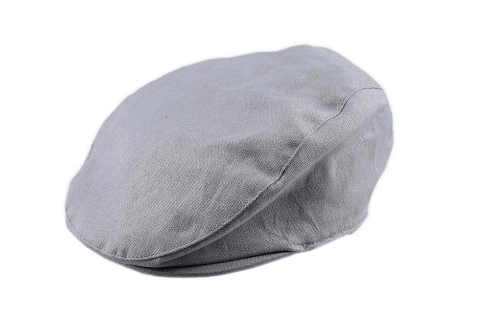 Bienzoe Boy's Cotton Linen Striped Flat Peaked Hat Newsboy Golf Baker Denim 6/8 by Bienzoe