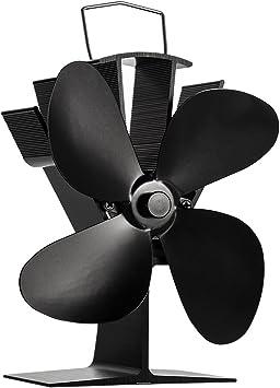 4 hojas ventilador de estufa calor De Corriente Ecofan de ventilador estufa de leña estufa de madera Top ventiladores Log quemador chimenea: Amazon.es: Bricolaje y herramientas