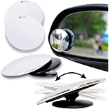 Zento Deals Blind Spot Adjustable Mirrors - 2-Pack Superior Quality