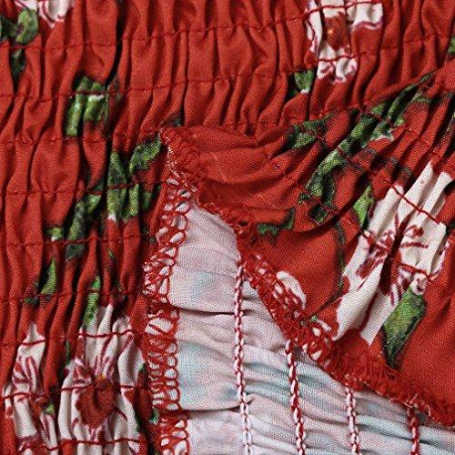 Gorge Floral lastique T Wrap shirt Boob Blouse Femmes shirt Dames Tube Tops Vtements Poitrine Soutien S Rouge Casual Bandeau Tops Femmes D't T Filles Rouge Lingerie Yanhoo Imprimer XwHBccqyIg