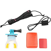 Cecilme Food-Grade Silicone Camera Fittings Surfing Skating Shoot Dummy Bite Mouth Mount Camera Accessories For GoPro Hero 5 4 3+