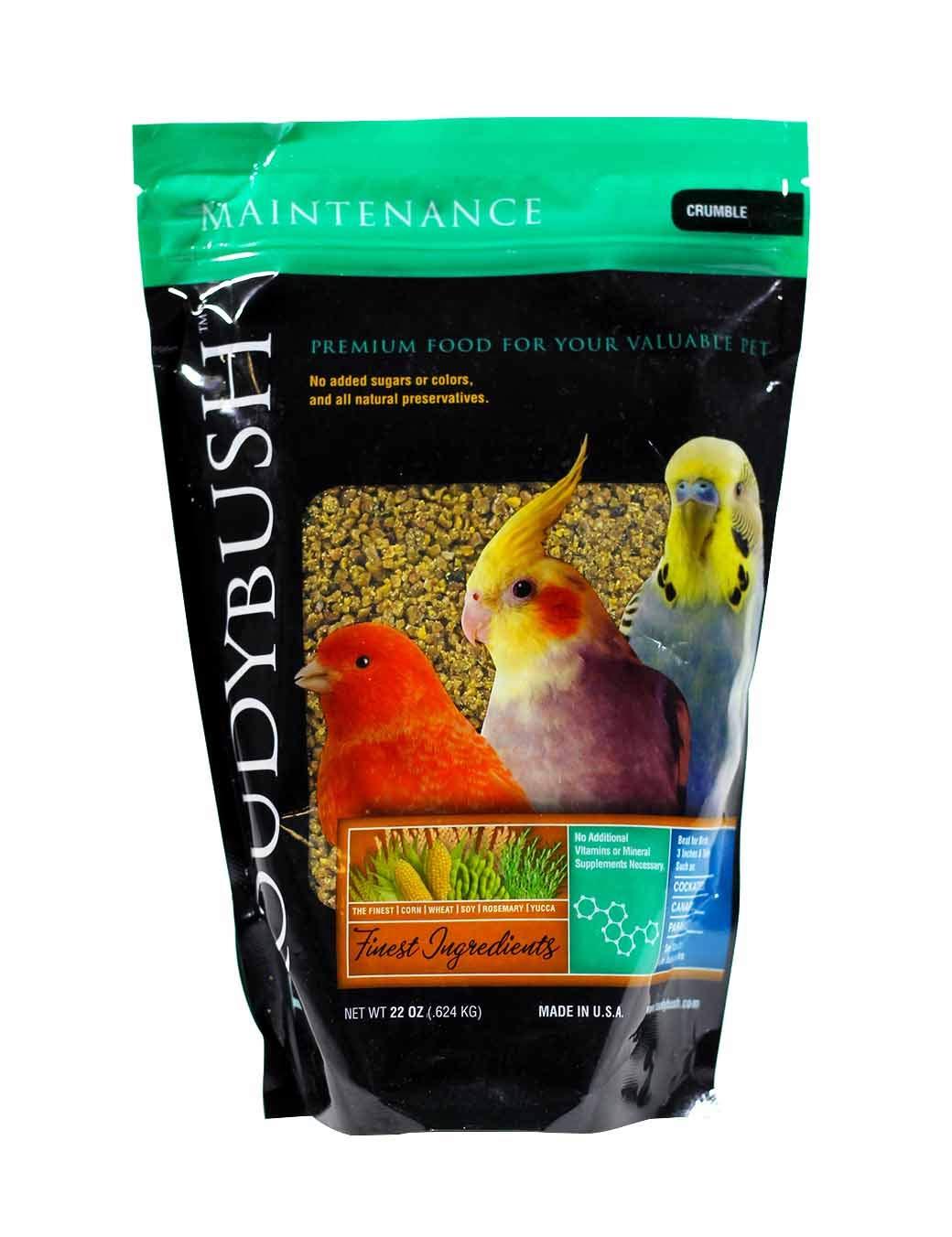 RoudyBush Daily Maintenance Bird Food, Crumbles, 22-Ounce, Multicolor, 222CRDM
