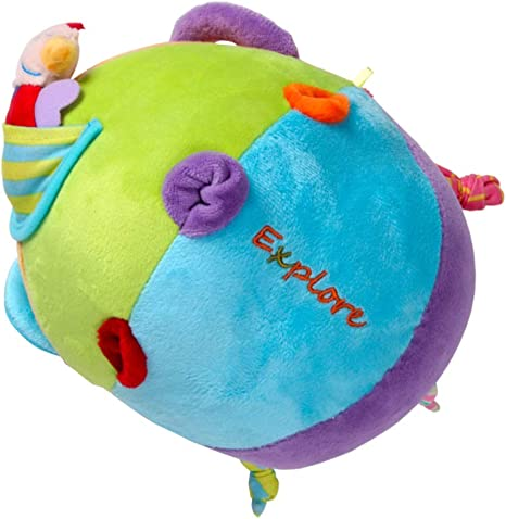Juguetes para niños del bebé de la felpa suave Bruno bola metálica ...
