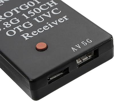 FPV Empfänger Eachine ROTG01 UVC OTG 5.8G 150CH Full Channel FPV Receiver Black