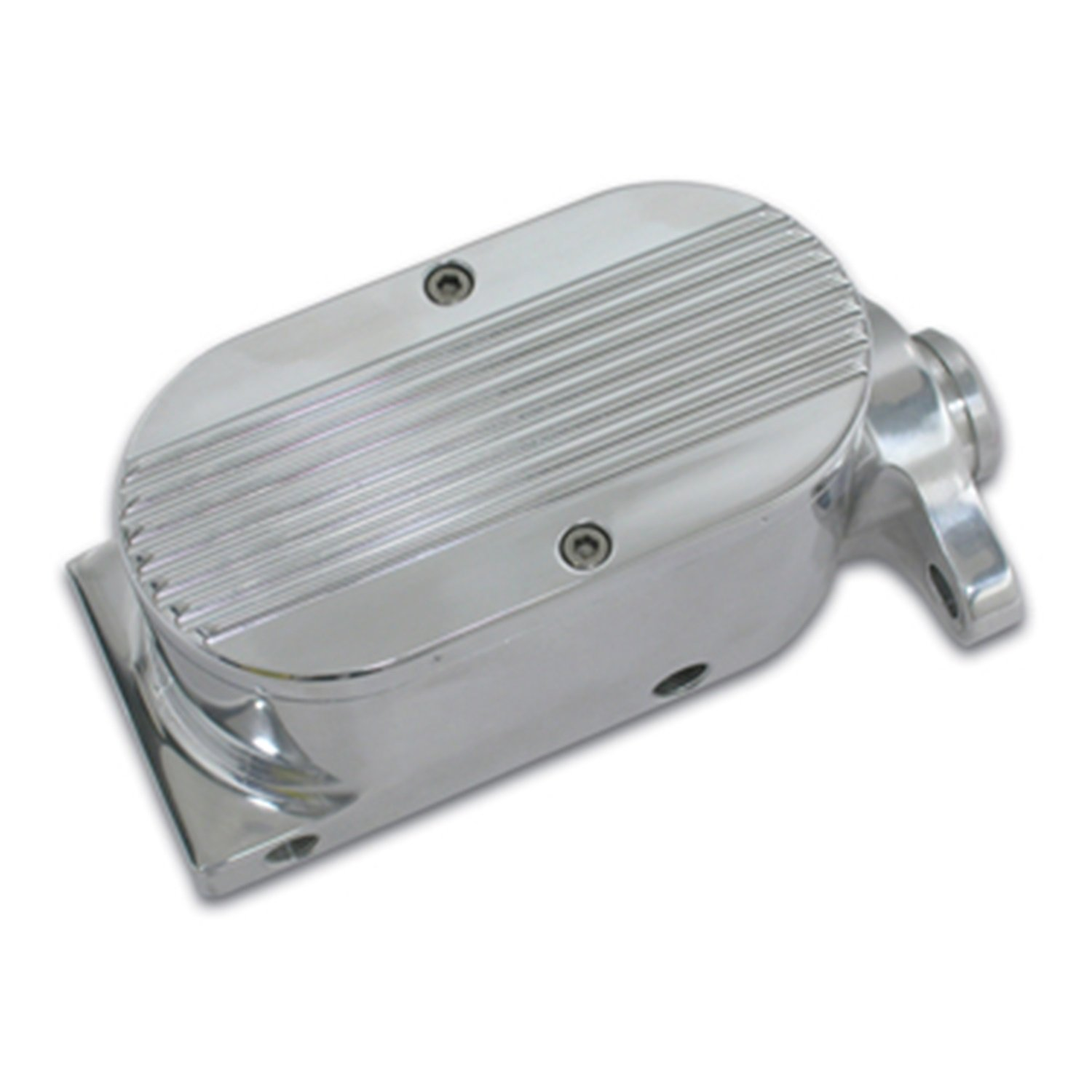 SSBC A0469-2 Billet Aluminum 1-1/8'' Bore Dual Bowl GM-Mount Master Cylinder with Finned Cap