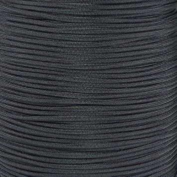 West Coast Paracord Marine 550 Paracord 5-1000 Foot Spools of Black 550 Paracord Type III 7 Strand Core