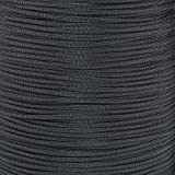 PARACORD PLANET Nylon Core 550lb Type III 7 Strand Paracord Made in The U.S.A. Over 200 Colors Available!,100 Feet,Black