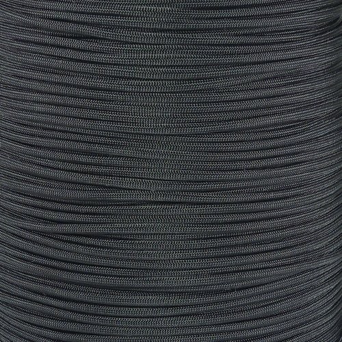 PARACORD PLANET 10 20 25 50 100 Foot Hanks and 250 1000 Foot Spools of Parachute 550 Cord Type III 7 Strand Paracord (Black 1000 Foot Spool)