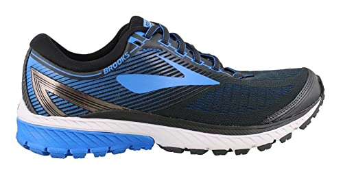 d706fdee653 Image Unavailable. Image not available for. Colour  Brooks Men s Ghost 10  Ebony Metallic Charcoal Electric Brooks Blue ...
