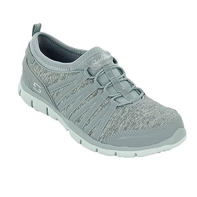 Skechers Women's Gratis Shake It Off Sneaker, Gray, 9.5 B(M) US