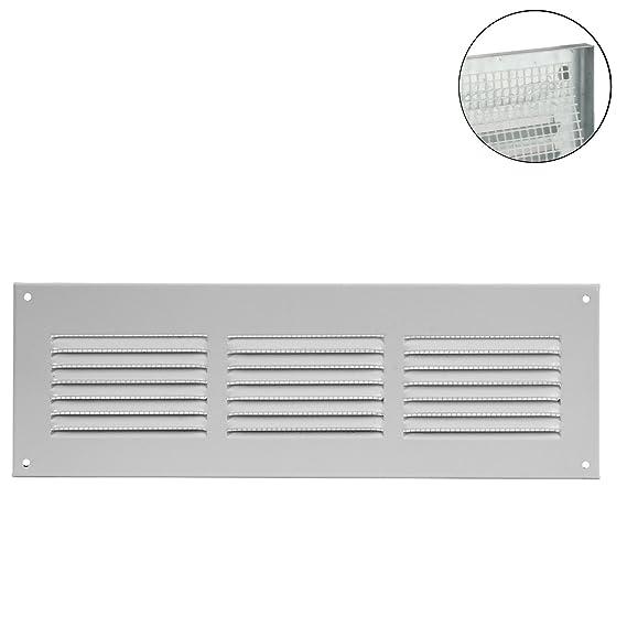 Blanco MKK/ /Rejilla de ventilaci/ón rejilla de pared cierre metal Canalizado zufluft Mosquitera con cierre /18529/