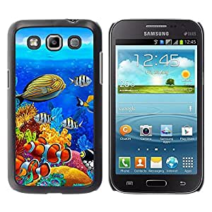 Be Good Phone Accessory // Dura Cáscara cubierta Protectora Caso Carcasa Funda de Protección para Samsung Galaxy Win I8550 I8552 Grand Quattro // Diving Fish Tropical Blue Ocean Wate