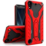 For HTC Desire 530 - Zizo STATIC Dual Layered Hybrid Cover with Kickstand (Retail Packaging) - Red/Black