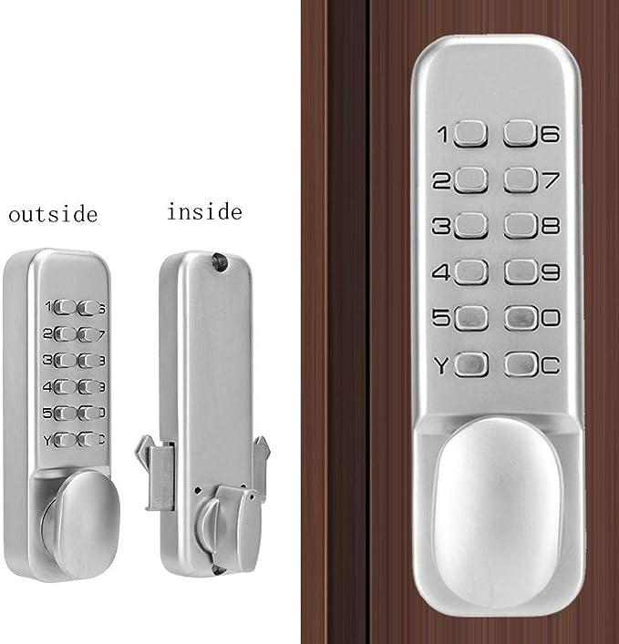 Kafuty Claves de Contraseña de Cerradura Digital Mecánica, para Puerta Corredera, 1-11 Contraseña de Combinación Digital, Función de Restablecimiento sin Presionar la Contraseña en Orden: Amazon.es: Hogar