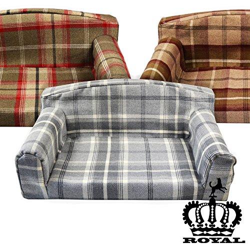 Hunter Royal - Sofá. 3 Tamaños de Mascota Perro Cama Material de la Cubierta. Fabricado en Reino Unido: Amazon.es: Productos para mascotas
