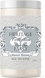 Manor House, Heritage Collection All In One Chalk Style Paint (NO WAX!) (32oz)