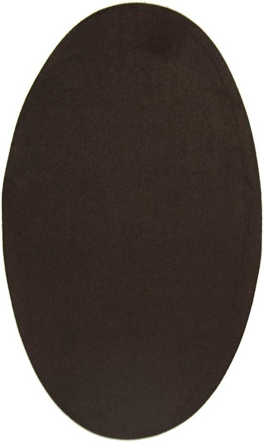2 rodilleras de Ante color Marrón termoadhesivas para planchar. Coderas para proteger tu ropa y reparación de pantalones, chaquetas, jerseys, camisas. 16 x 10 cm. Ref. 96 Marrón
