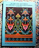 Authentic Victorian Decoration and Ornamentation in Full Color, Christopher Dresser, 0486250830