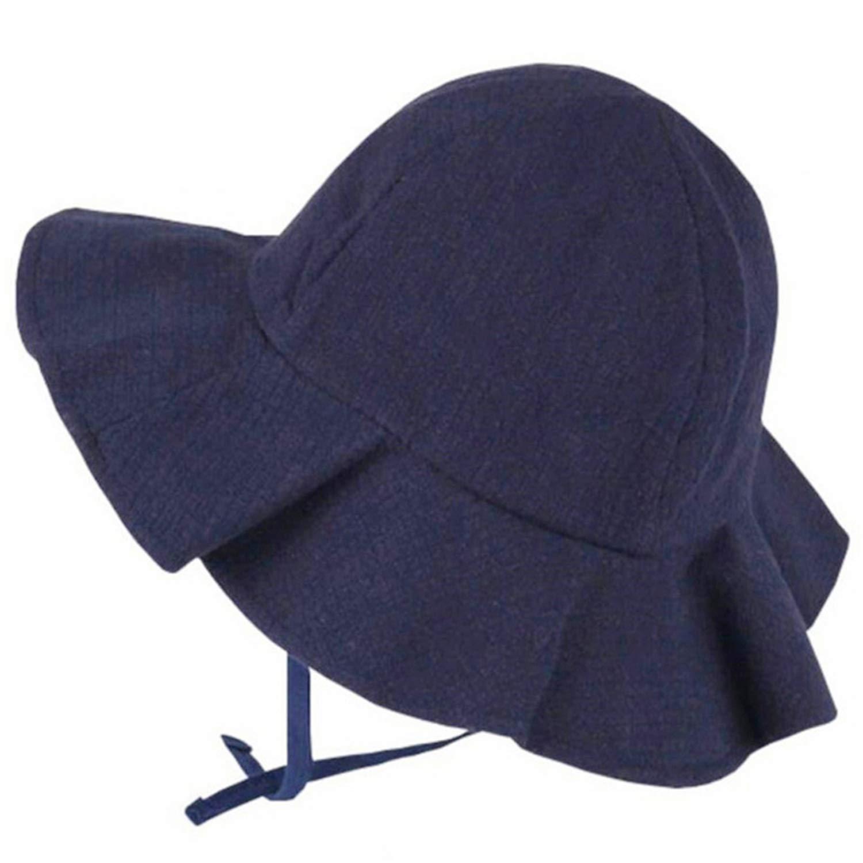 2019 Wide Brim Baby Sun Hat Cotton Kids Bucket Cap Summer Beach Girls Travel Outdoor