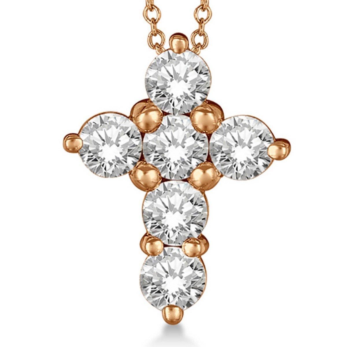 Yellow Gold 14K Pear Shape Created Diamond Pendant  2.05 ct.