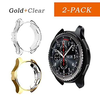 iHYQ Case for Samsung Gear S3 Frontier SM-R760/Classic,TPU Scractch-Resist Shock-Proof All-Around Protective Bumper Shell Protective Band Galaxy Watch ...