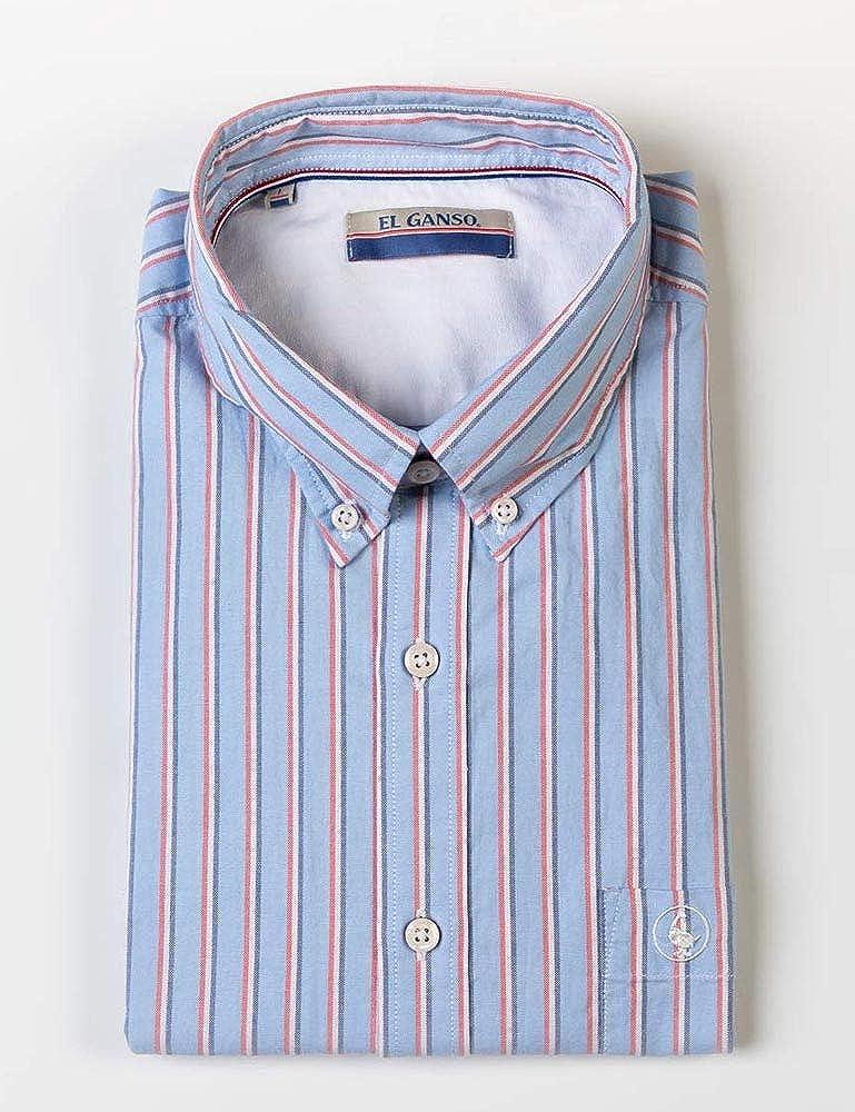El Ganso 1050S190005 Camisa casual, Azul (Celeste 0005), L para Hombre: Amazon.es: Ropa y accesorios