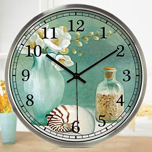 CCYYJJ The Abstract Art Wake Up Simple Alarm Clock Lounge Restaurant Mute Alarm Clock Alarm Clock Select Literary (Color # 1, Size: 40Cm)