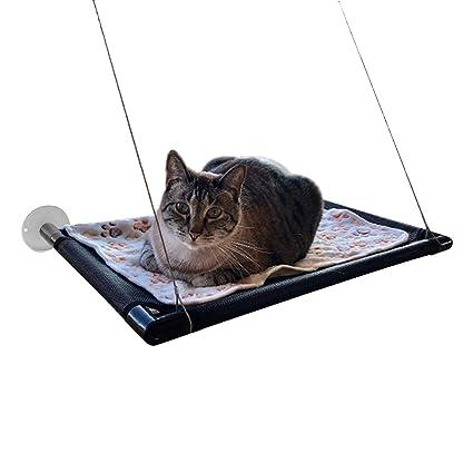 Gato ventana percha hamaca cama de gato-soleado asiento ventana gatito descanso mascota cama-