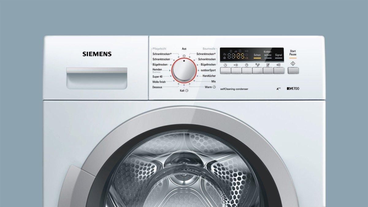 Siemens iq700 wt46w2fcb isensoric wärmepumpentrockner a 7 kg
